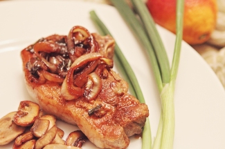 Seared Pork Chop with Blood Orange and Onion Sauce: https://1233photography.com/2014/02/16/seared-pork-chops-with-blood-orange-and-onion-sauce/
